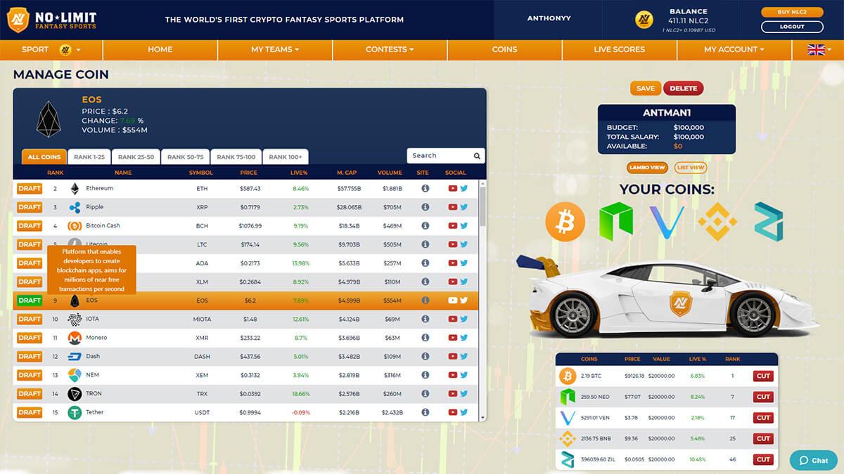 fantasy crypto screenshot team