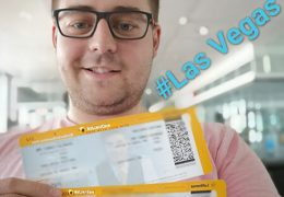 WSOP Main Event Freeroll ticket winner's trip to Las Vegas.