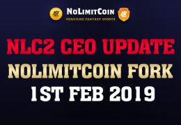 NoLimitCoin CEO Update - NLC2 Fork 1st February2019